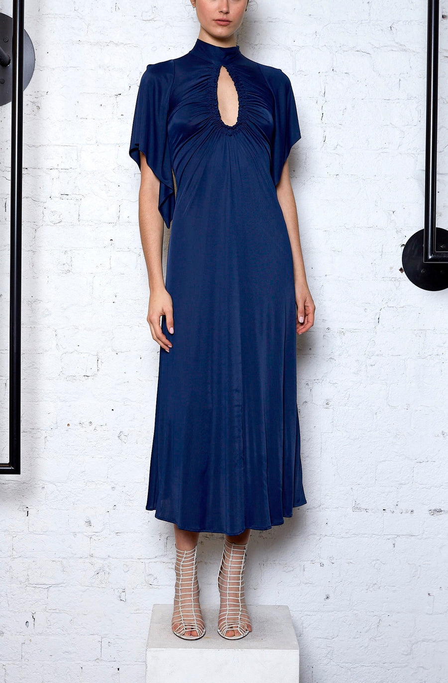 Earth Angel Midi Dress - Indigo