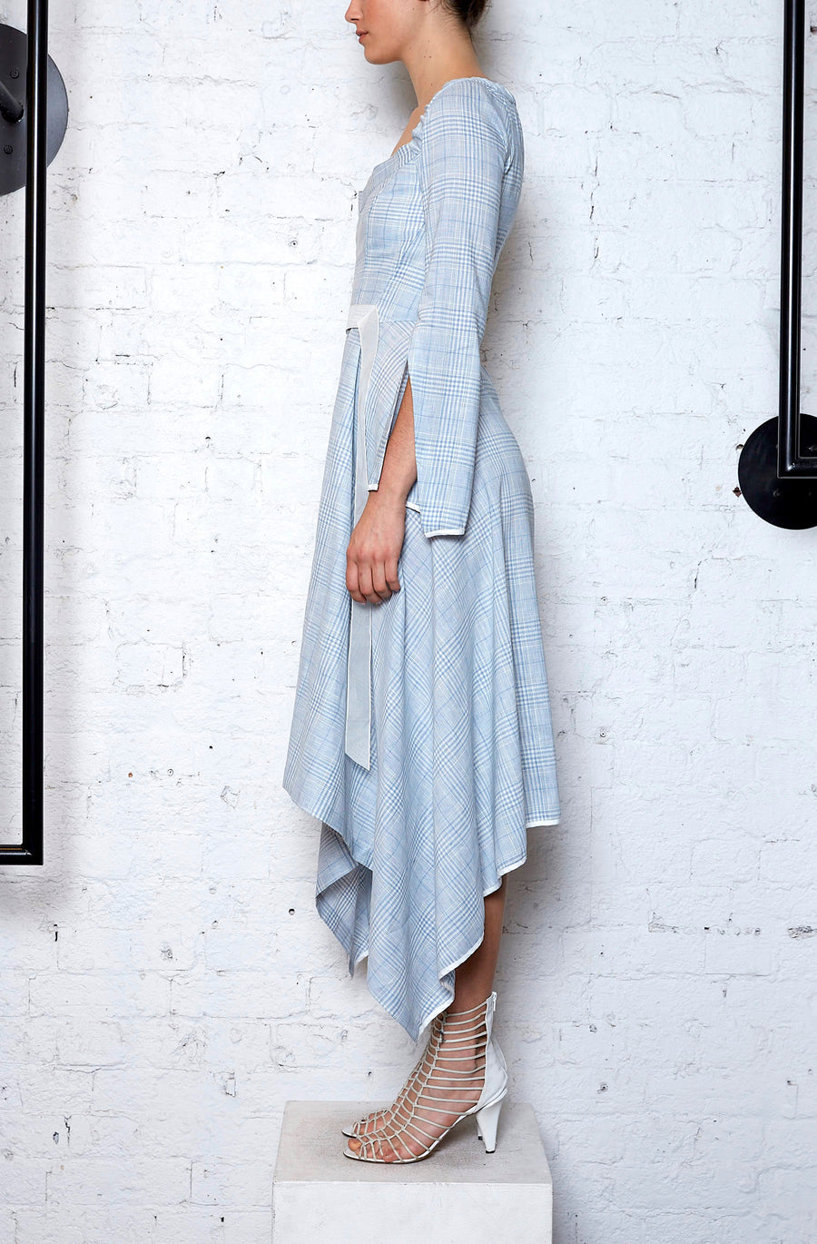 Linear Dress - Washed Blue