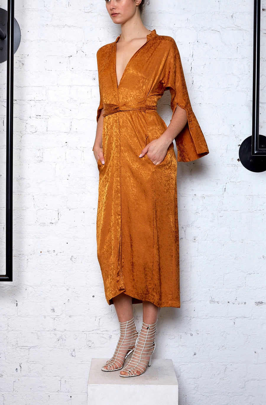 Slink Shirtdress - Rust