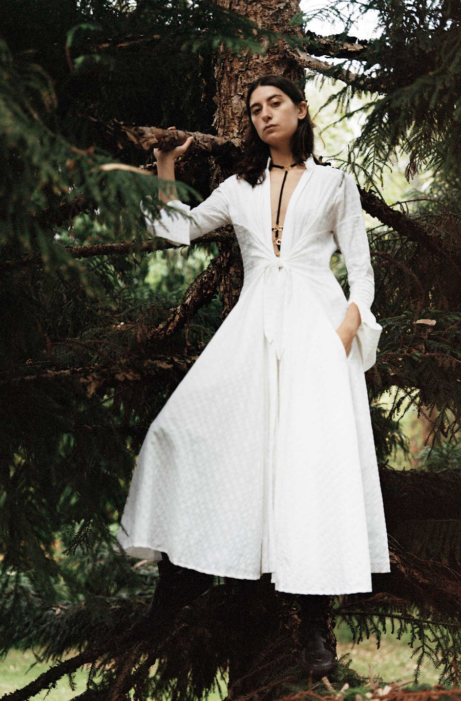 Reviving Nature Shirt Dress - White