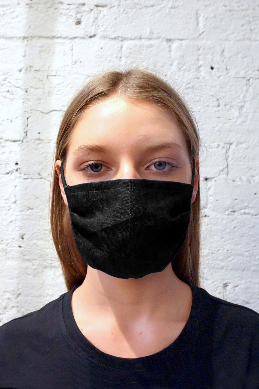Remnant Mask - Triple Layer Black Linen