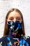 *RE-STOCKED* Remnant Mask - Blue/Black Flower