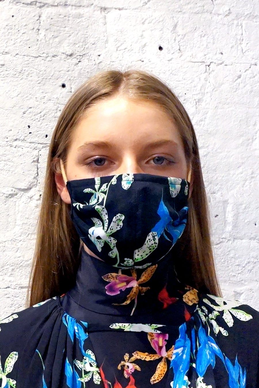 *Re-stocked* Remnant Mask - Double Layer Blue/Black Flower