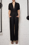 Anthropocene Jumpsuit - Black Linen