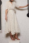 Circle Skirt - Gold Stripe