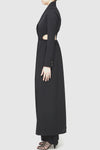 Cellular Coat Dress - Black