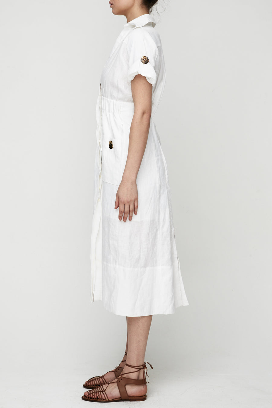 The Linen Shirtdress - White