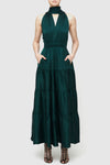 Essence Spot Dress - Emerald