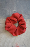 REMNANT SCRUNCHIE - RED SILK