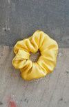 Remnant Scrunchie - Yellow Satin