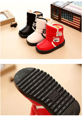 Winter Kids Plush Snow Boots Children Fashion Boots High Thick Waterproof Shoes