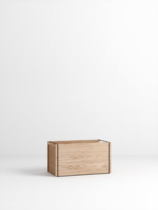 Storage Box - Oak/Black - set of 3