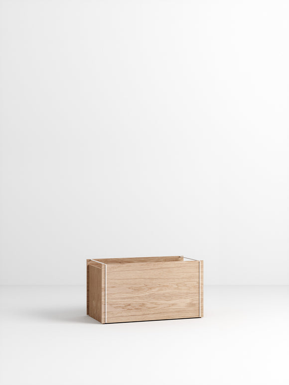 Storage Box - Oak/White
