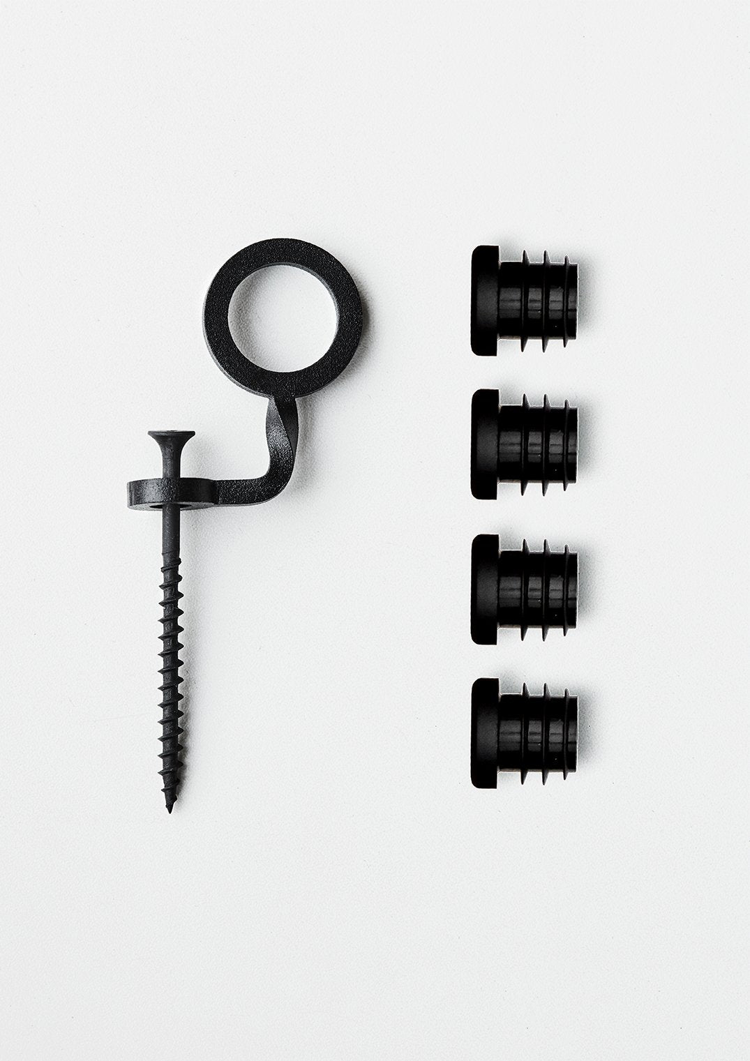 Part - End Caps and Safety Clip Set - Black