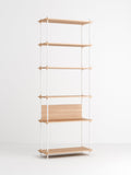 Shelving System oak, white, extra tall single