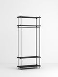 Shelving System wardrobe, black