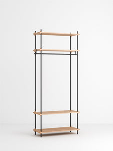 Shelving System wardrobe, oak