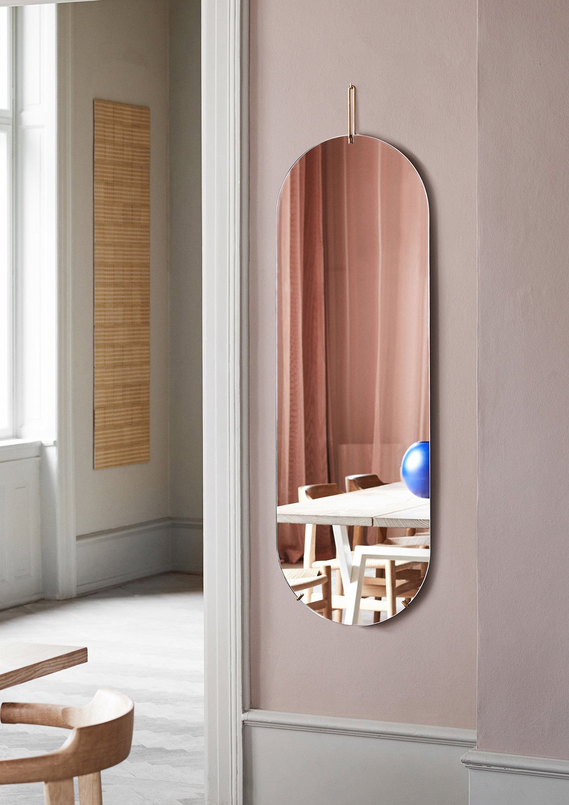 Tall Wall Mirror - Brass