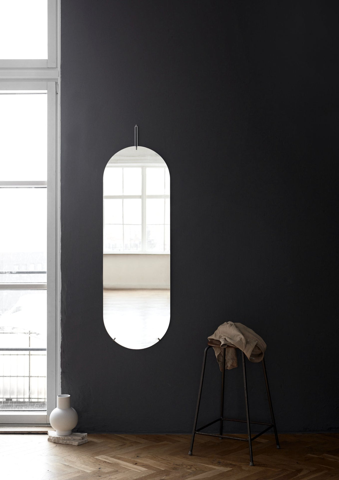 Tall Wall Mirror - Chrome