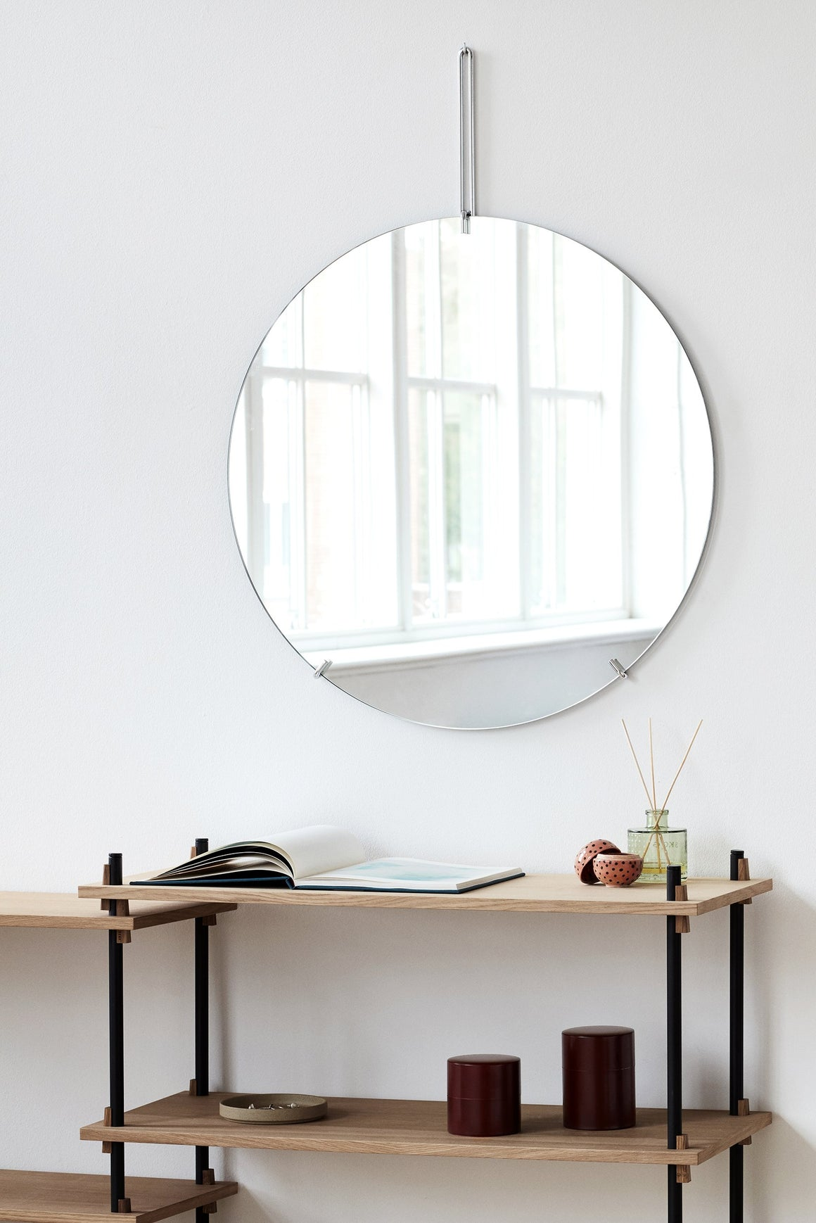 Wall Mirror - Chrome - 70cm Ø