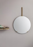 Wall Mirror - Brass - 30cm Ø