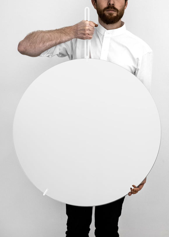 Wall Mirror - White - 70cm Ø