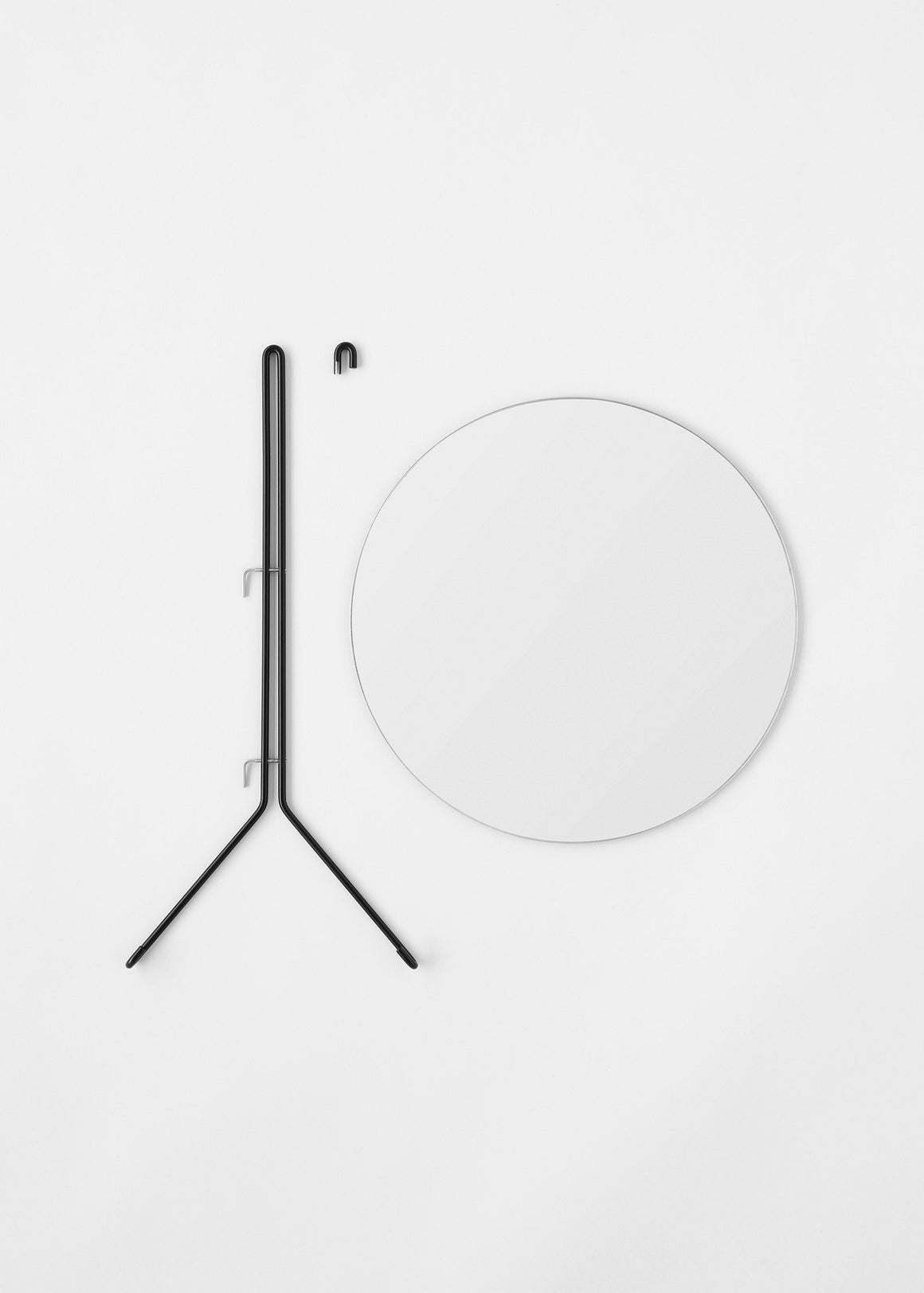 Wall Mirror - Black - 30cm Ø