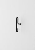 WALL HOOK - BLACK - SMALL (x2)