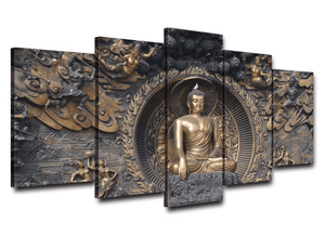Buddha 5 Piece Canvas Print HD Wall Decor - paint by numbers