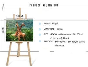Giraffes DIY Painting Kit - paint by numbers