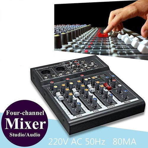 Mini Portable Audio Mixer Dj Sound Mixing Console - paint by numbers