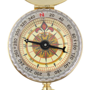 Pocket Brass Outdoor Compass - paint by numbers