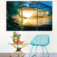 Wave HD 3 Piece Canvas Print Wall Art - paint by numbers