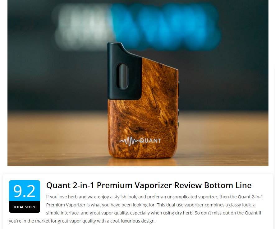 Read the review of THE VAPE GUIDE about ours vaporizers