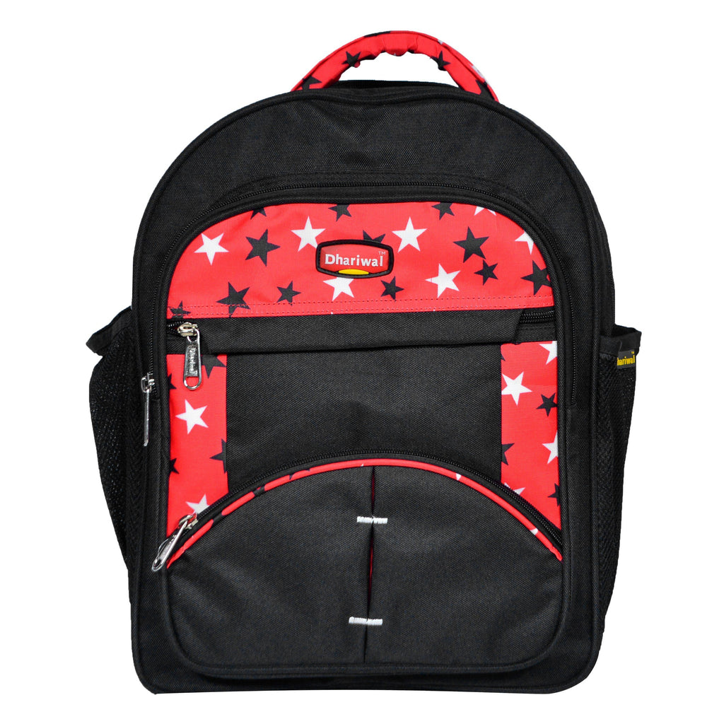 Dhariwal 26L Water Resistant Dual Compartment Matty School Bag School Bag SCB-305 Class 1 to 4 School Bags Dhariwal Black