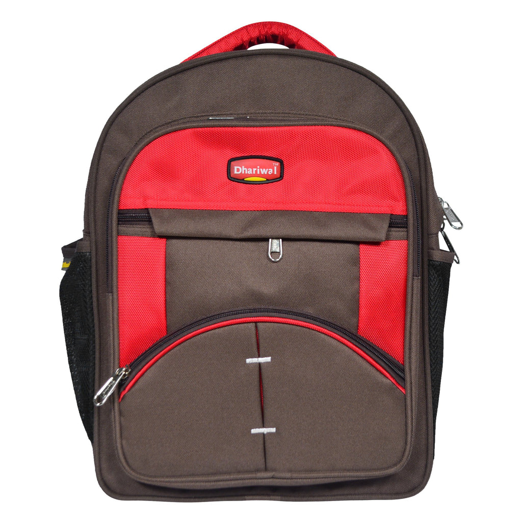 Dhariwal 26L Water Resistant Dual Compartment Matty School Bag School Bag SCB-305 Class 1 to 4 School Bags Dhariwal Brown