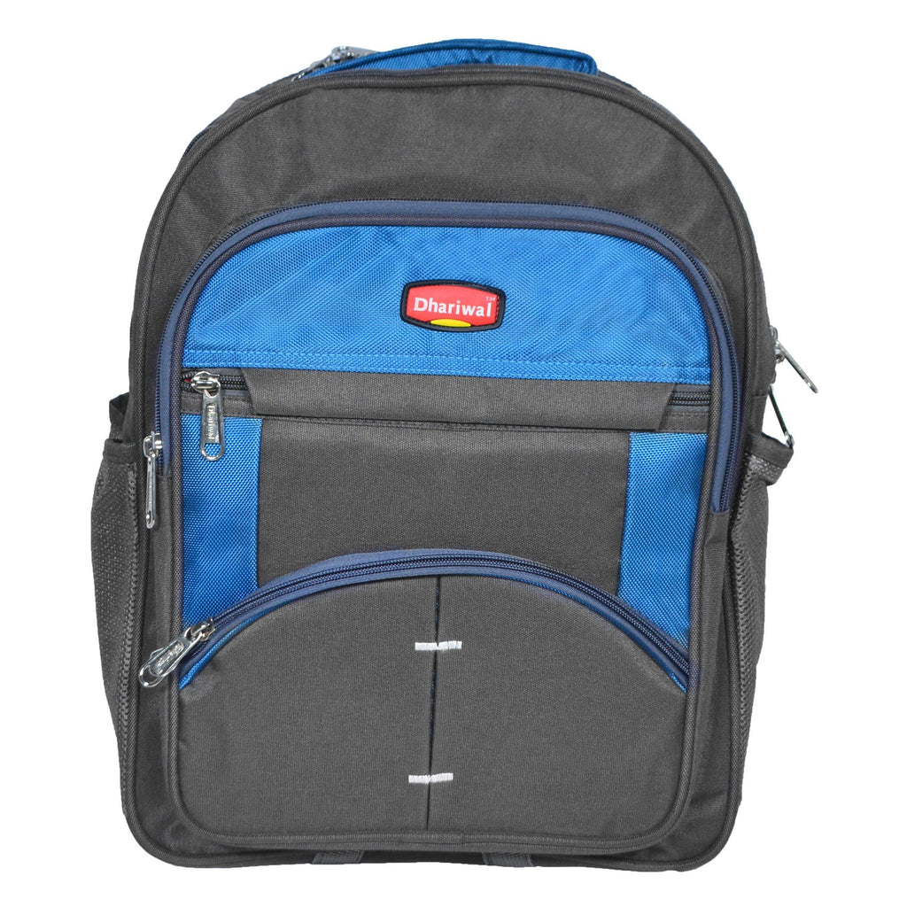 Dhariwal 26L Water Resistant Dual Compartment Matty School Bag School Bag SCB-305 Class 1 to 4 School Bags Dhariwal Grey