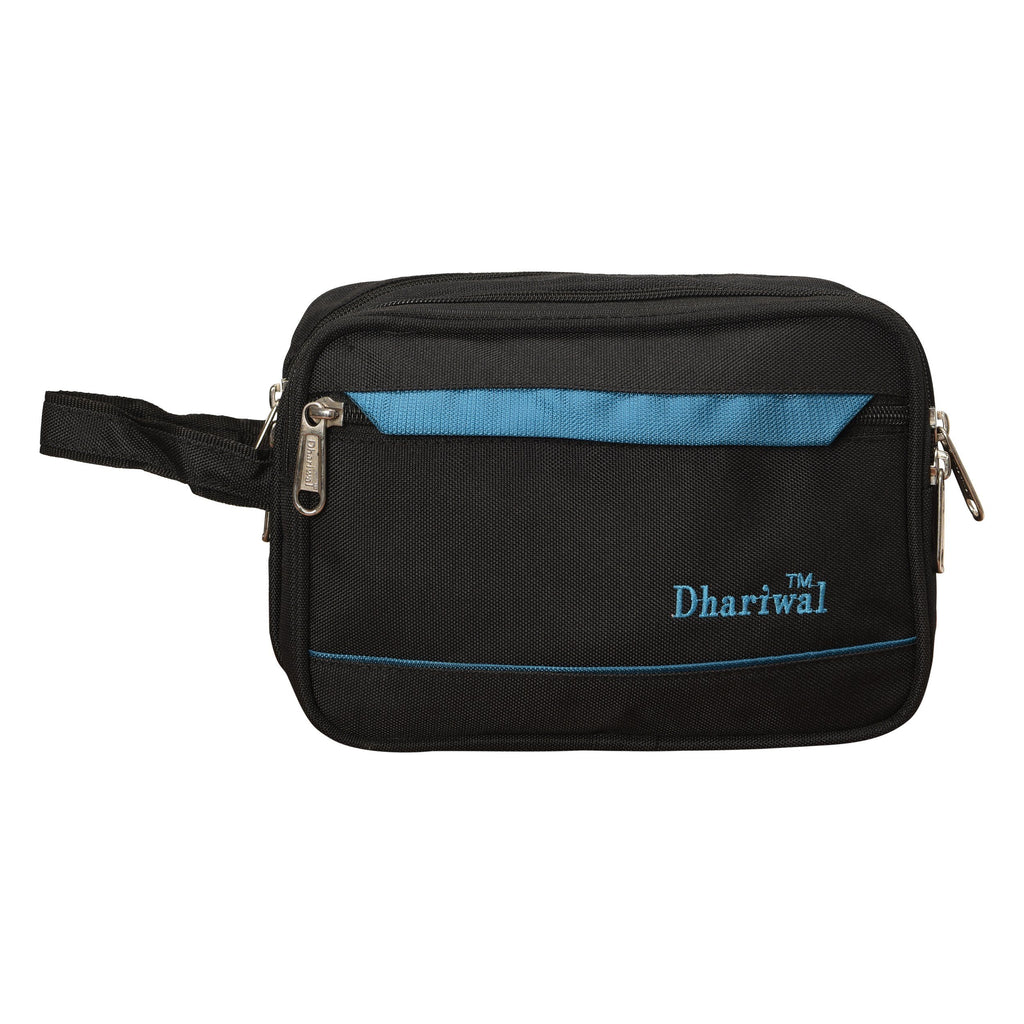 Dhariwal Cash Pouch for Cash, Keys, Shaving Kit, Cosmetics, Gadgets - BIG Cash Bags Mohanlal Jain (Dhariwal Bags) Black