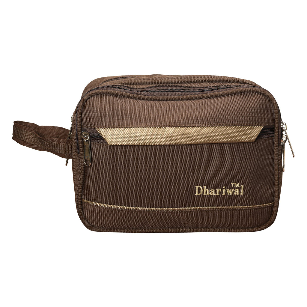 Dhariwal Cash Pouch for Cash, Keys, Shaving Kit, Cosmetics, Gadgets - BIG Cash Bags Mohanlal Jain (Dhariwal Bags) Brown