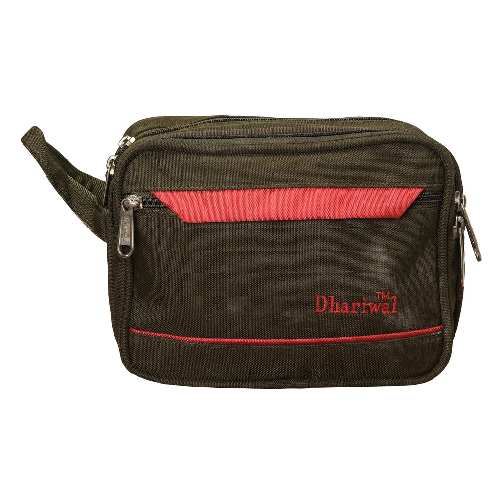 Dhariwal Cash Pouch for Cash, Keys, Shaving Kit, Cosmetics, Gadgets - BIG Cash Bags Mohanlal Jain (Dhariwal Bags) Green