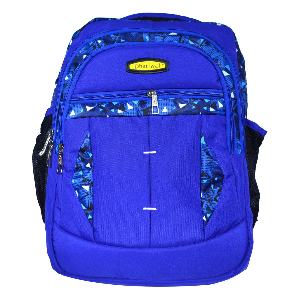 Dhariwal Dual Compartment Backpack with Rain Cover 37L BP-229 School Bags Mohanlal Jain (Dhariwal Bags) Royal Blue