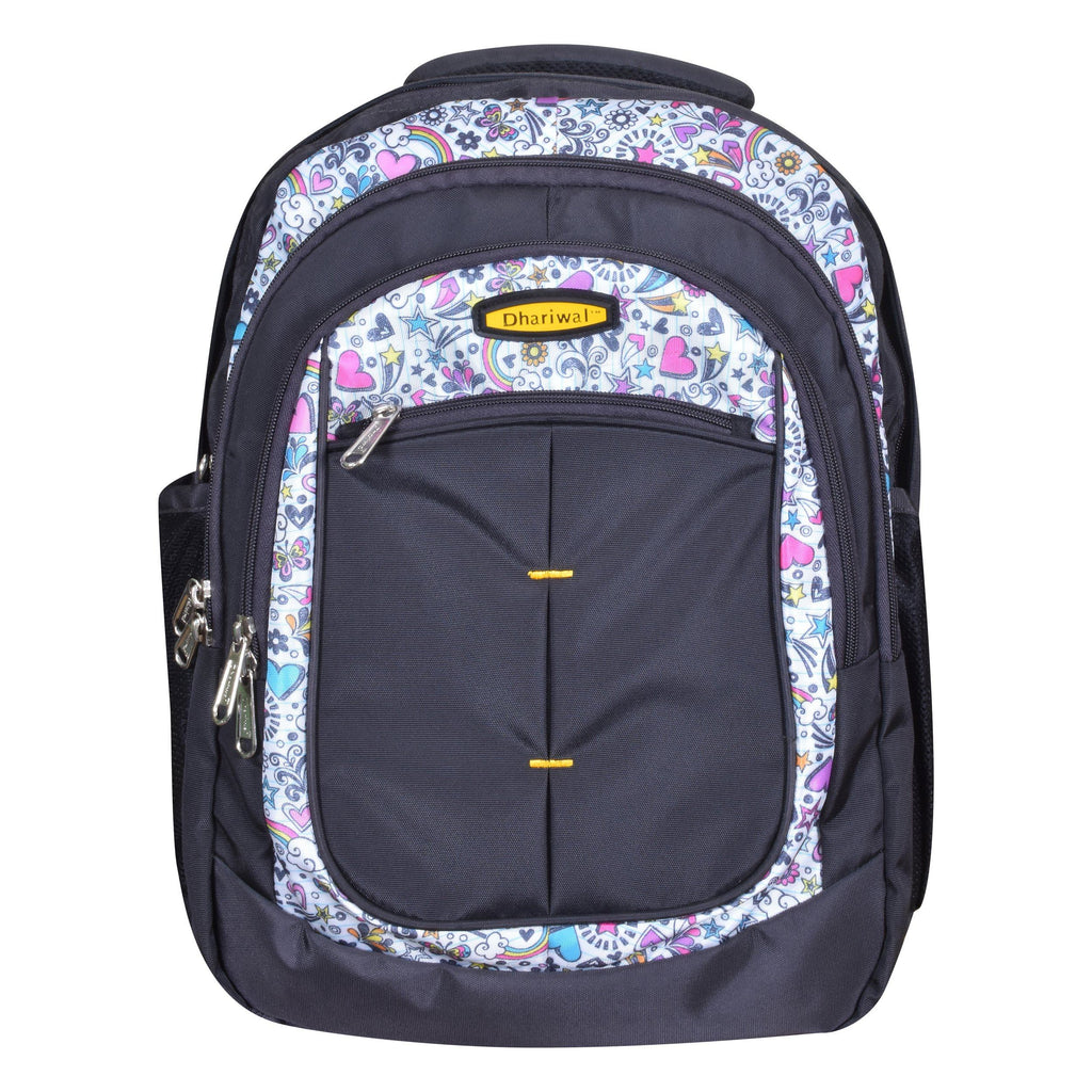Dhariwal Dual Compartment Backpack with Rain Cover 41L BP-227 School Bags Mohanlal Jain (Dhariwal Bags) Grey