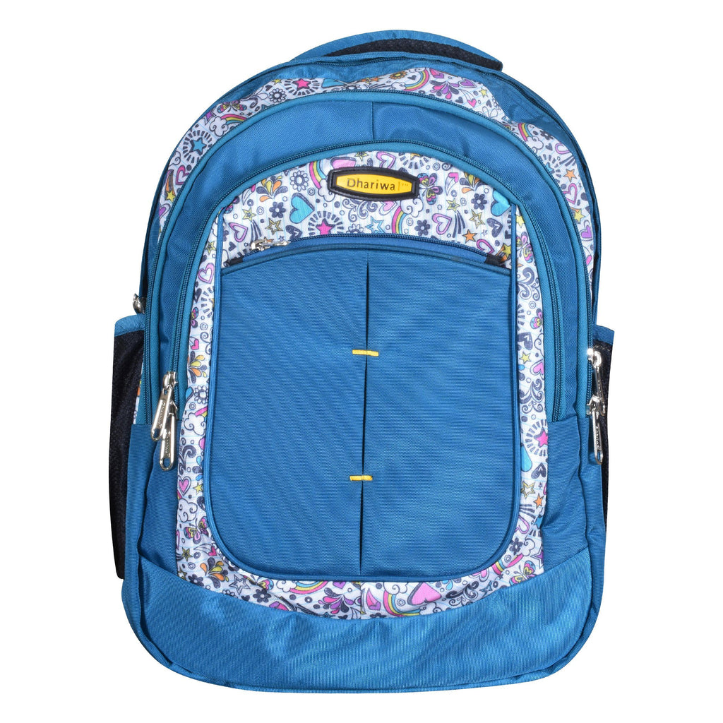 Dhariwal Dual Compartment Backpack with Rain Cover 41L BP-227 School Bags Mohanlal Jain (Dhariwal Bags) Teal
