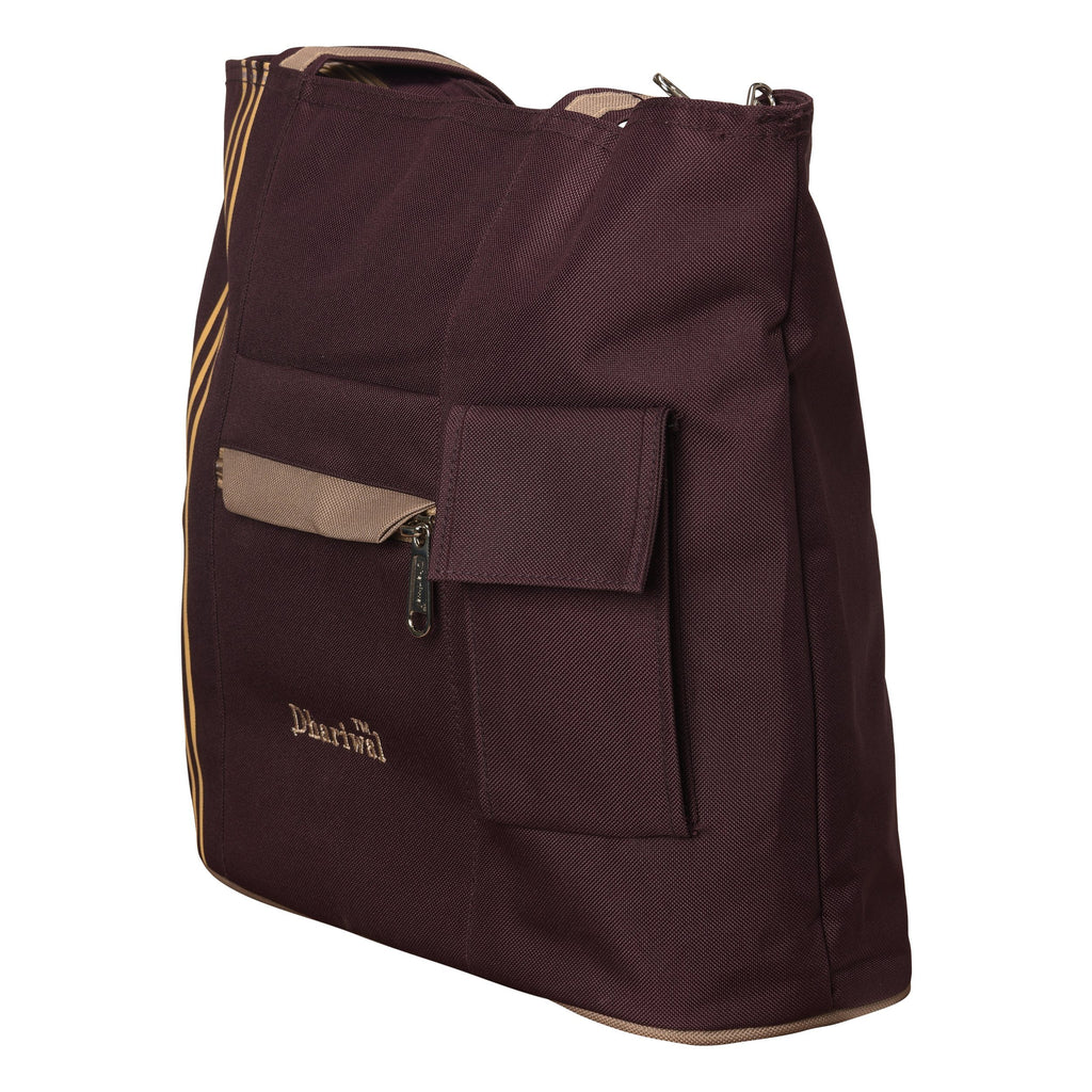 Dhariwal Matty Twin Handle Ladies Shopping Bag, Vanity Bag for Carriage, Travel, Casual,Outdoor Shopping Bags Mohanlal Jain (Dhariwal Bags) Purple