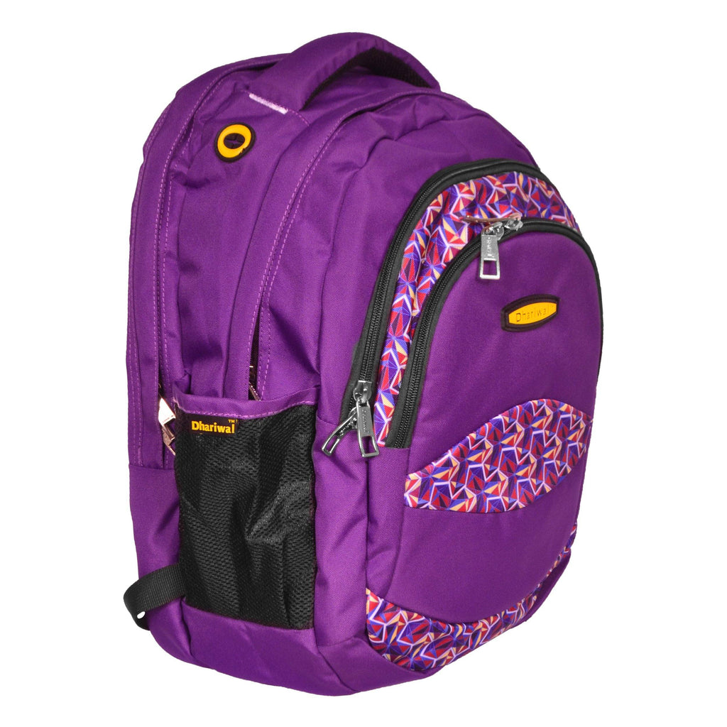 Dhariwal Multi Color Dual Compartment Unisex Printed School BackPack 39L BP-203 School Bags Dhariwal