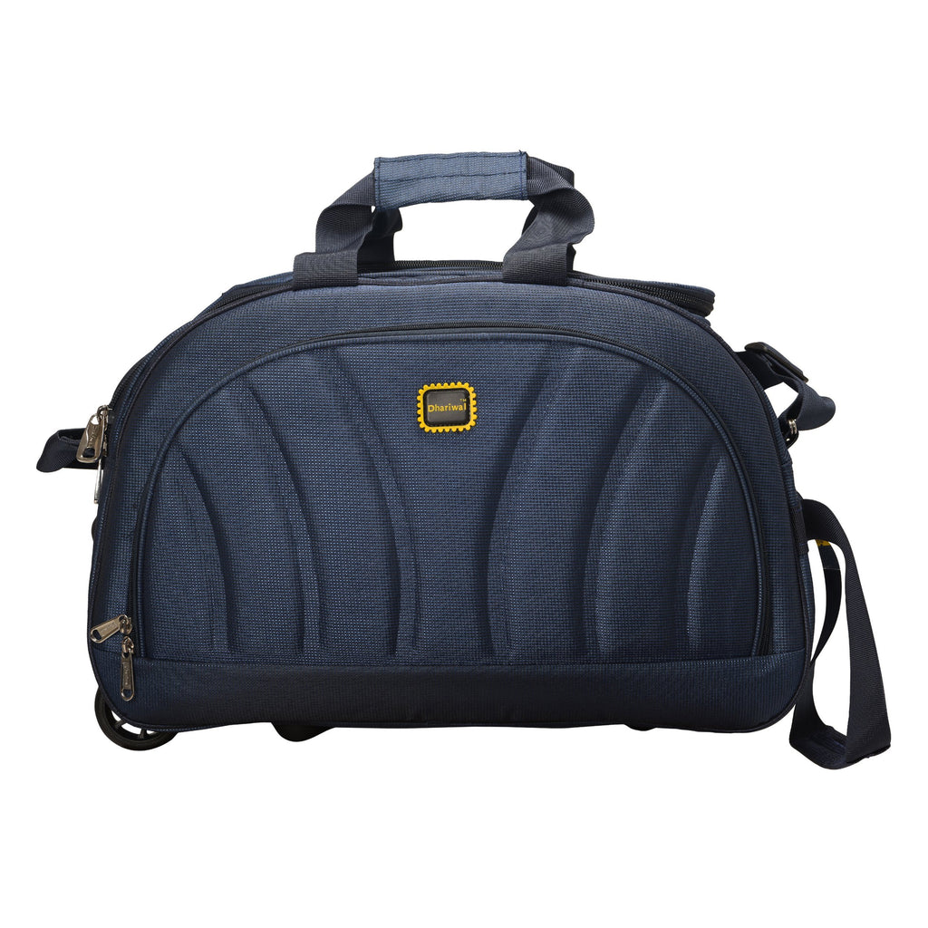 "Dhariwal Rolling Duffle Bag [Size 20""] [Capacity(in L) 50L] [Model No. DB-701] - Cabin Luggage Duffel Bags Mohanlal Jain (Dhariwal Bags) Blue"