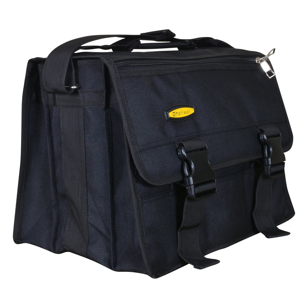 Dhariwal Tool Bag for Electrician, Technician, Mechanic, Service Engineer and Office use Heavy Duty EB-608 Black Executive Bags Dhariwal