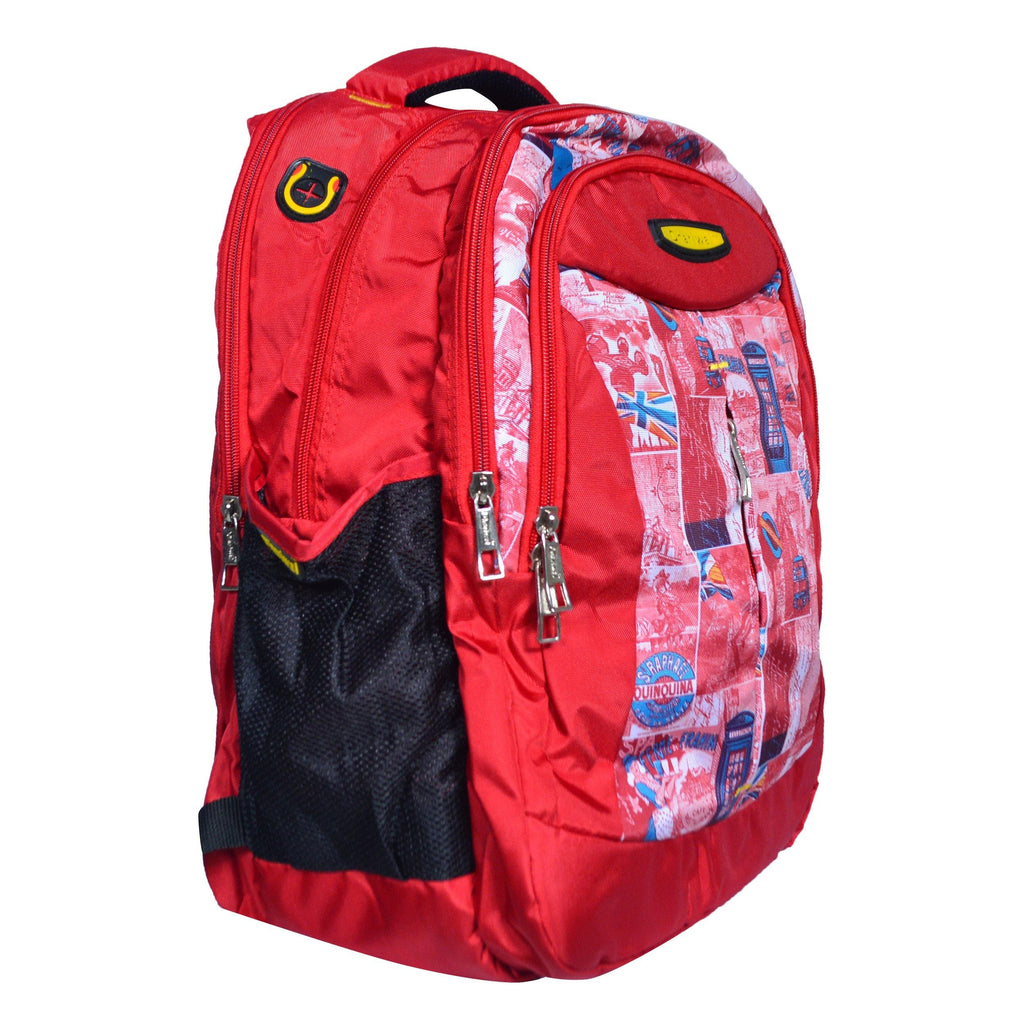 Dhariwal Triple Compartment Backpack with Rain Cover 39L BP-217 School Bags Mohanlal Jain (Dhariwal Bags)