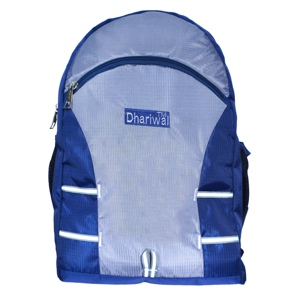 Dhariwal Ultra Light Weight Unisex Dual Compartment Backpack 29L SCB-316 School Bags Dhariwal Blue