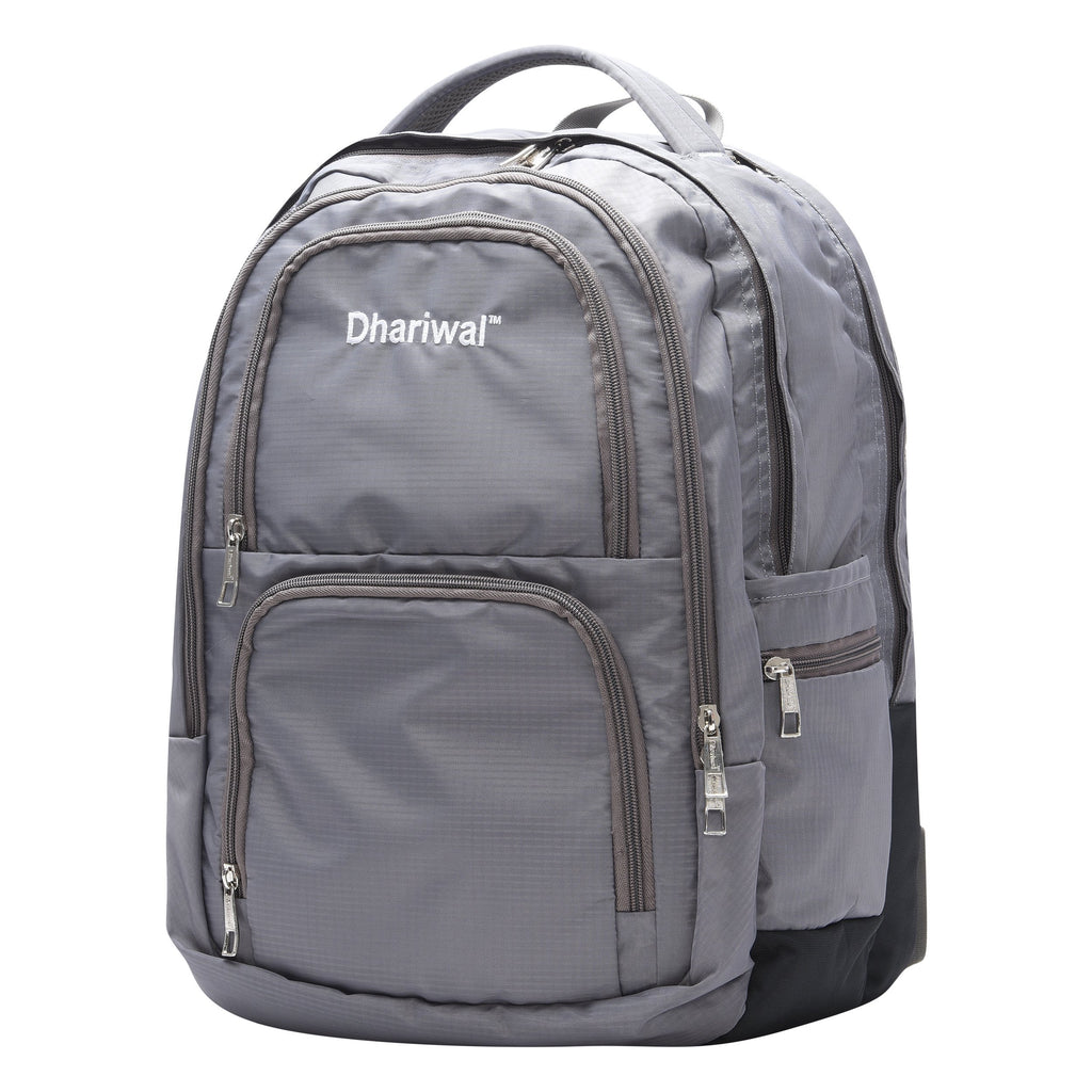 Dhariwal Unisex Dual Compartment Laptop Backpack With Back Air Flow Cushion 34L LB-105 Laptop Bags Mohanlal Jain (Dhariwal Bags)